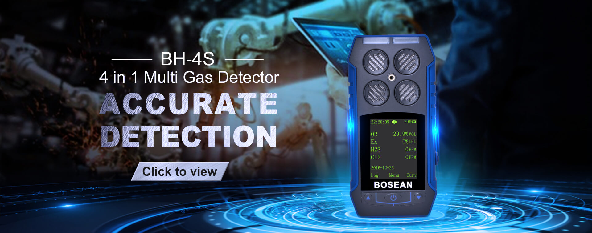 BH-4S portable multi gas detector