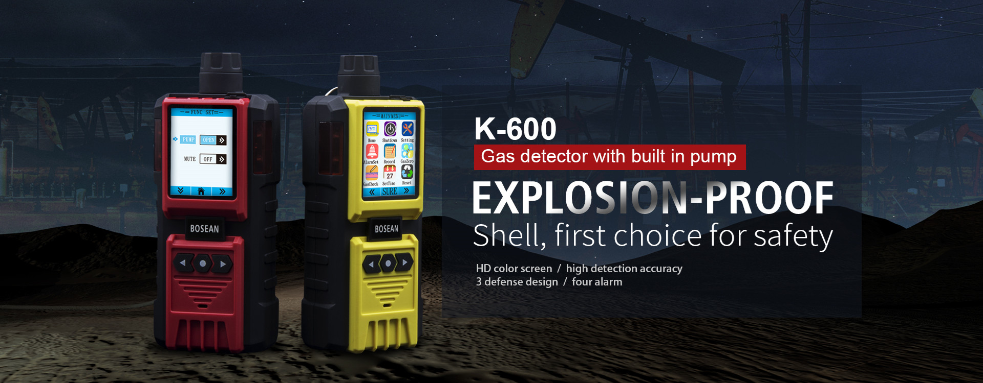 K-600 gas detector with built in pump