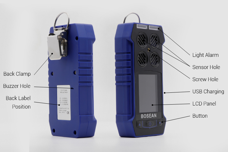BH-4S 4 in 1 multi gas detector