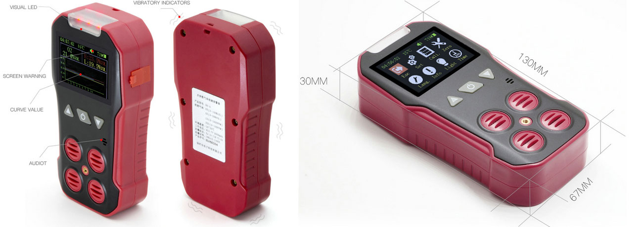 BH-4AS portable multi-gas detector